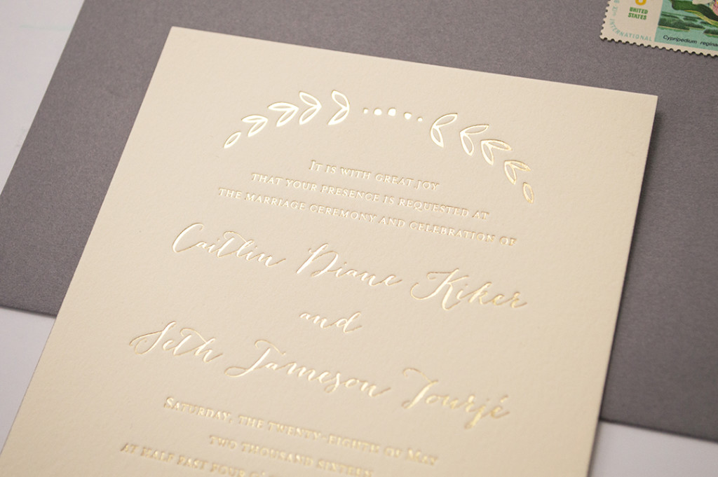 Botanical Foil Wedding Invitations
