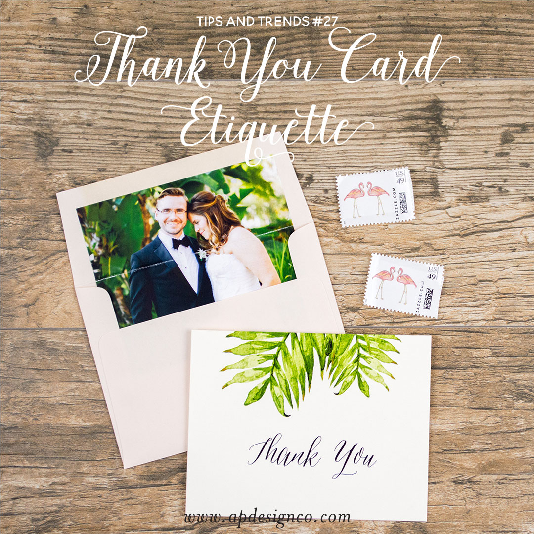 So, here are a few wedding Thank-You notes etiquette tips: