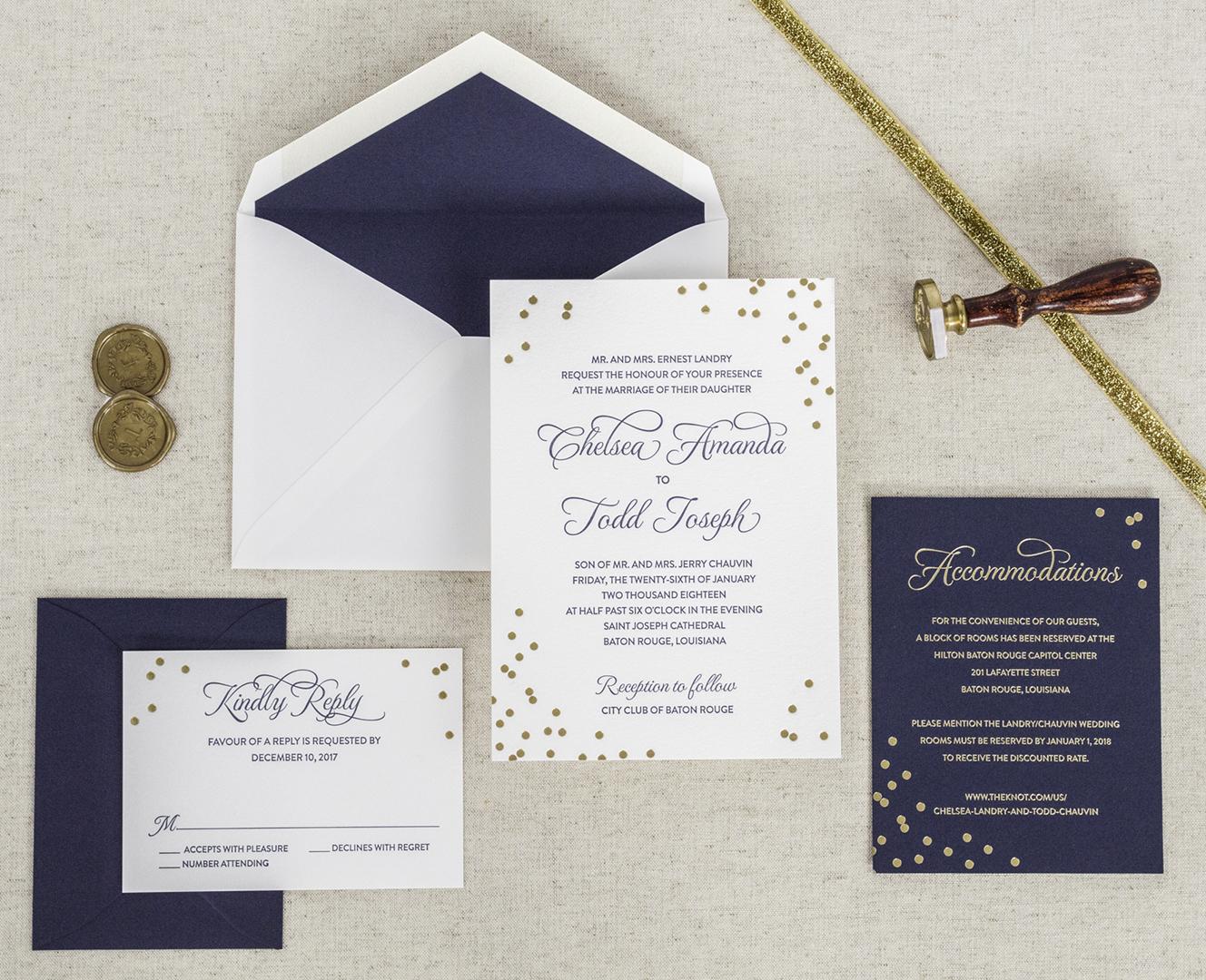 Cheap Letterpress Wedding Invitations: Affordable Letterpress Wedding Invitations