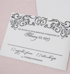elegant affordable letterpress wedding invitations