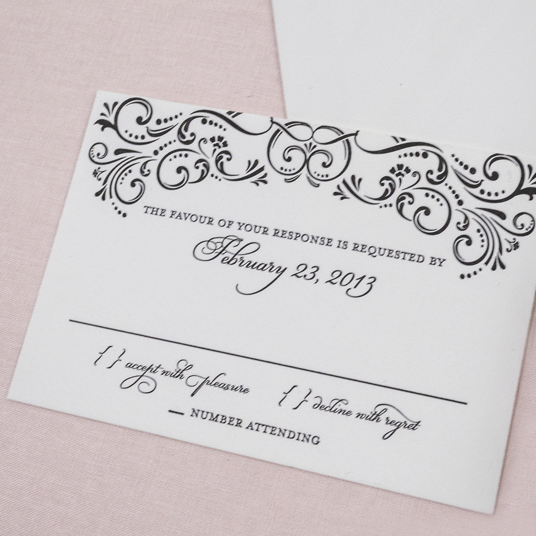 Elegant Inexpensive Wedding Invitations: Elegant Vintage Affordable Letterpress Wedding Invitations