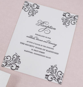 Elegant Vintage Inspired Affordable Letterpress Wedding Invitations