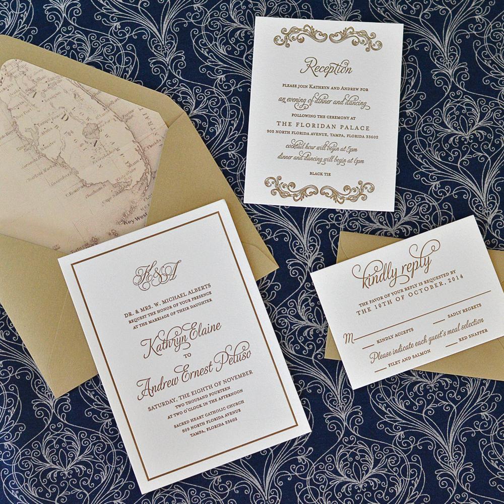 Old Florida Themed Wedding Invitations Ap Designs