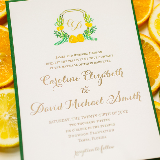 Custom Watercolor Monogram Invitations