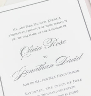 Classy Letterpress Dallas Wedding Invitations