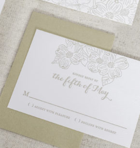 dogwood inspired wedding invitations