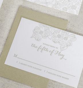 dogwood inspired wedding invitations