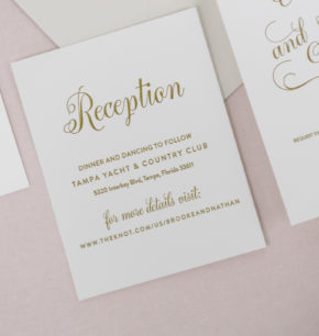 Modern Script Letterpress Wedding Invitations