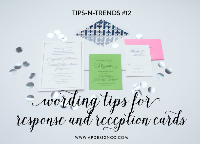 Wording Ideas For Your Reception And Response Cards