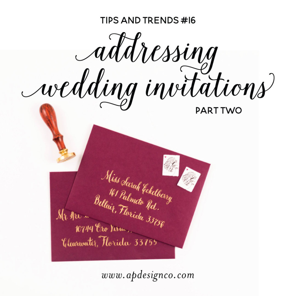 Addressed Wedding Invitations: Tips On Addressing Wedding Invitation Envelopes