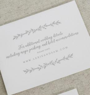 Greenery Letterpress Wedding Invitations