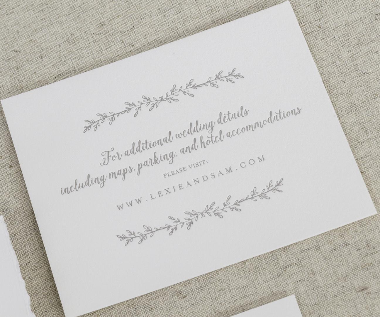 Dallas Garden Inspired Letterpress Wedding Invitations