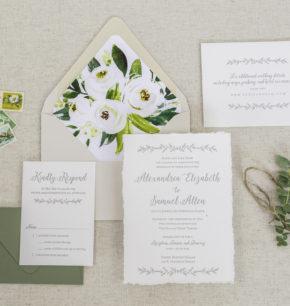 Organic Greenery Wedding Invitations
