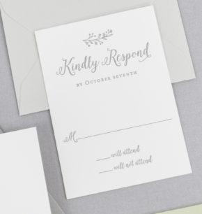 Fall Inspired Letterpress Wedding Invitations