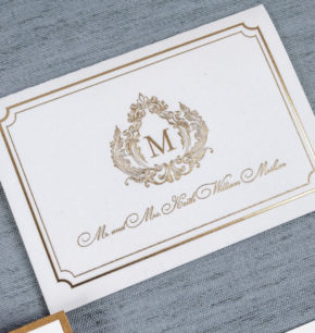 Elegant Royal Monogram Crest Wedding Invitations