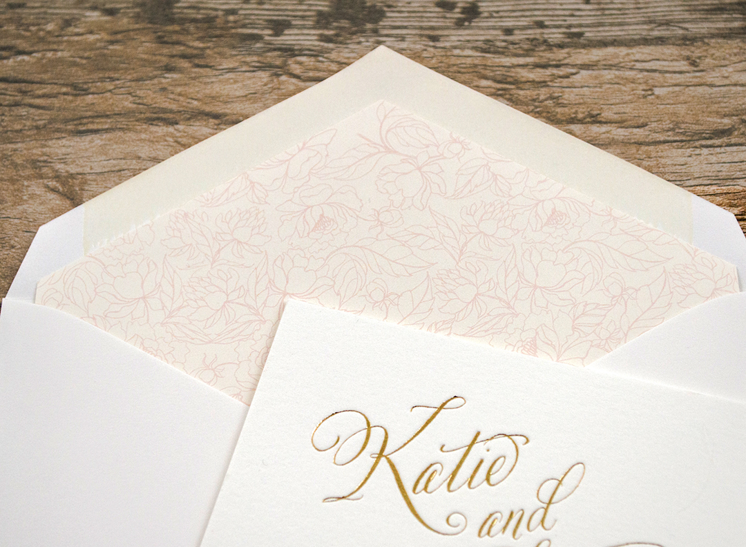 Botanical Letterpress & Foil Wedding Invitations