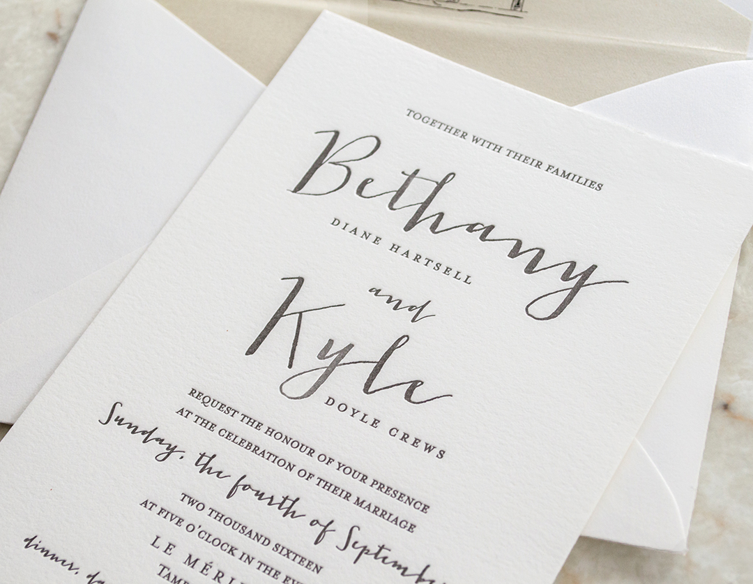 Contemporary Wedding Invitations