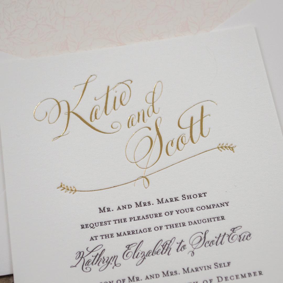 Botanical Foil Wedding Invitations