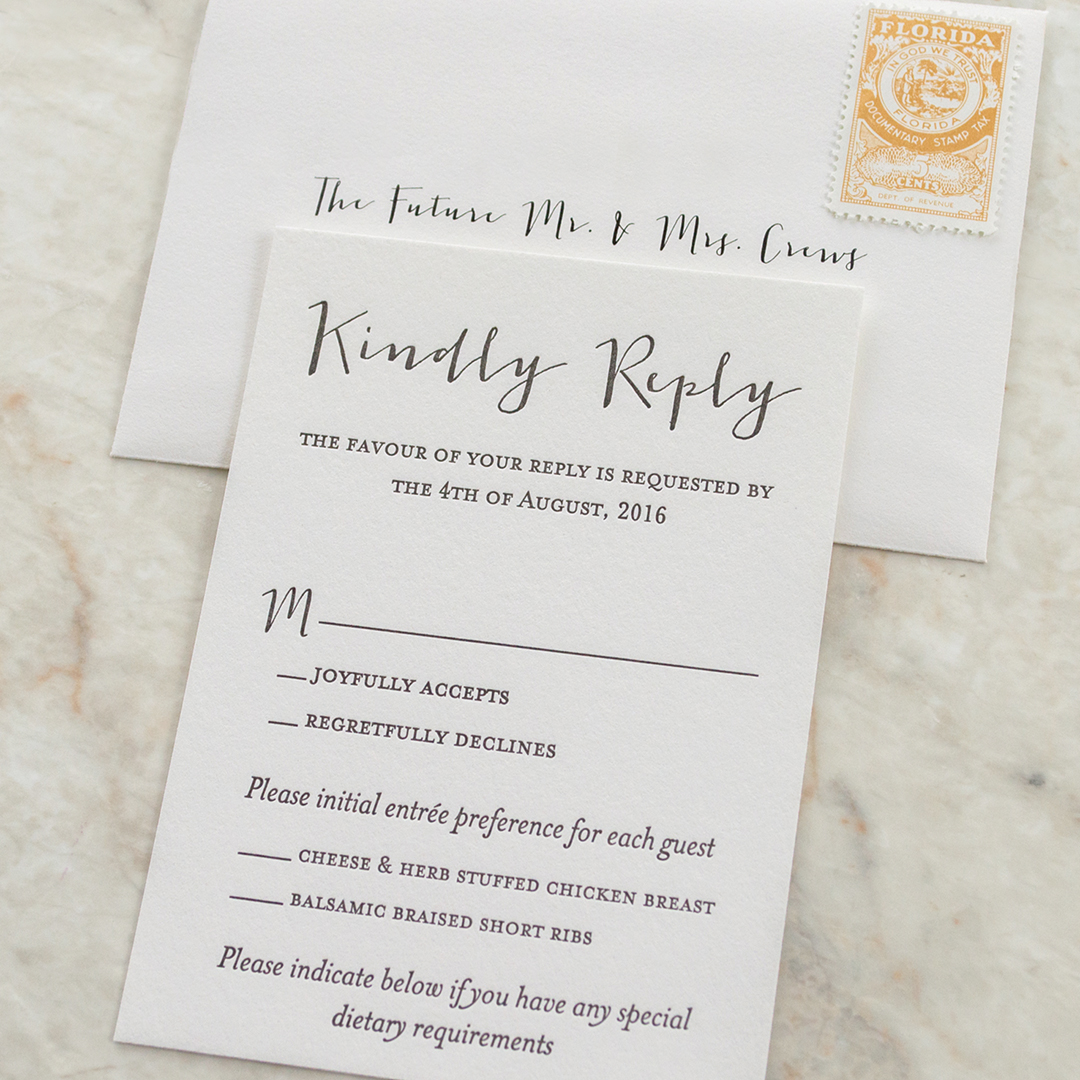 Chic, Modern Wedding Invitations