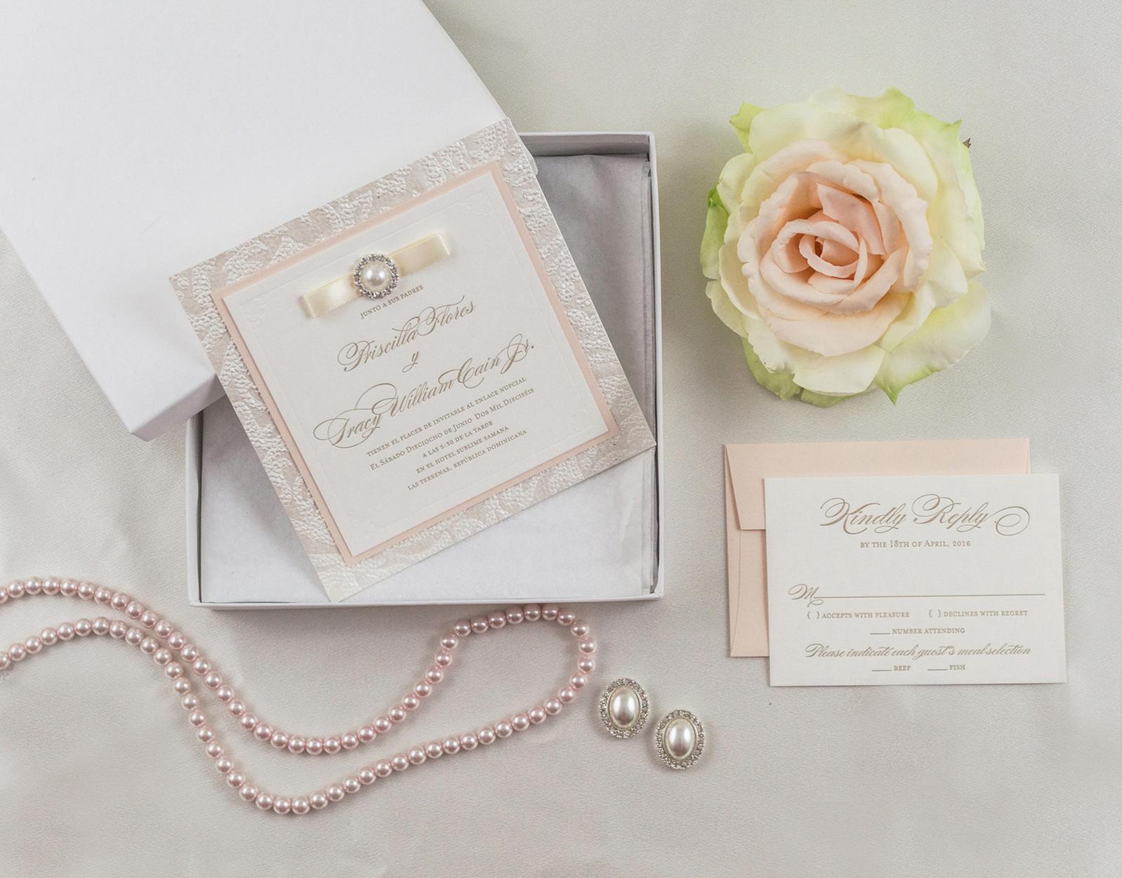 Classy, Brooch Wedding Invitations