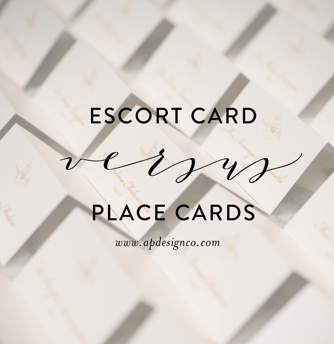 Escort Cards Vs Place Cards