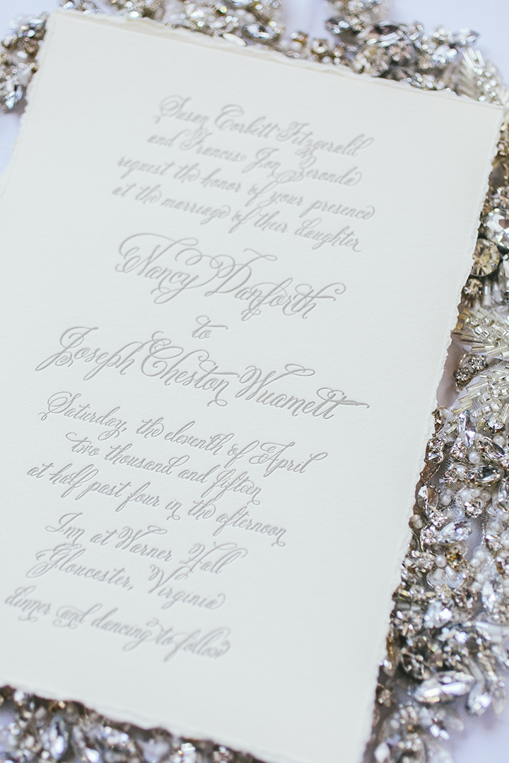 Deckled Edge Letterpress Wedding Invitations