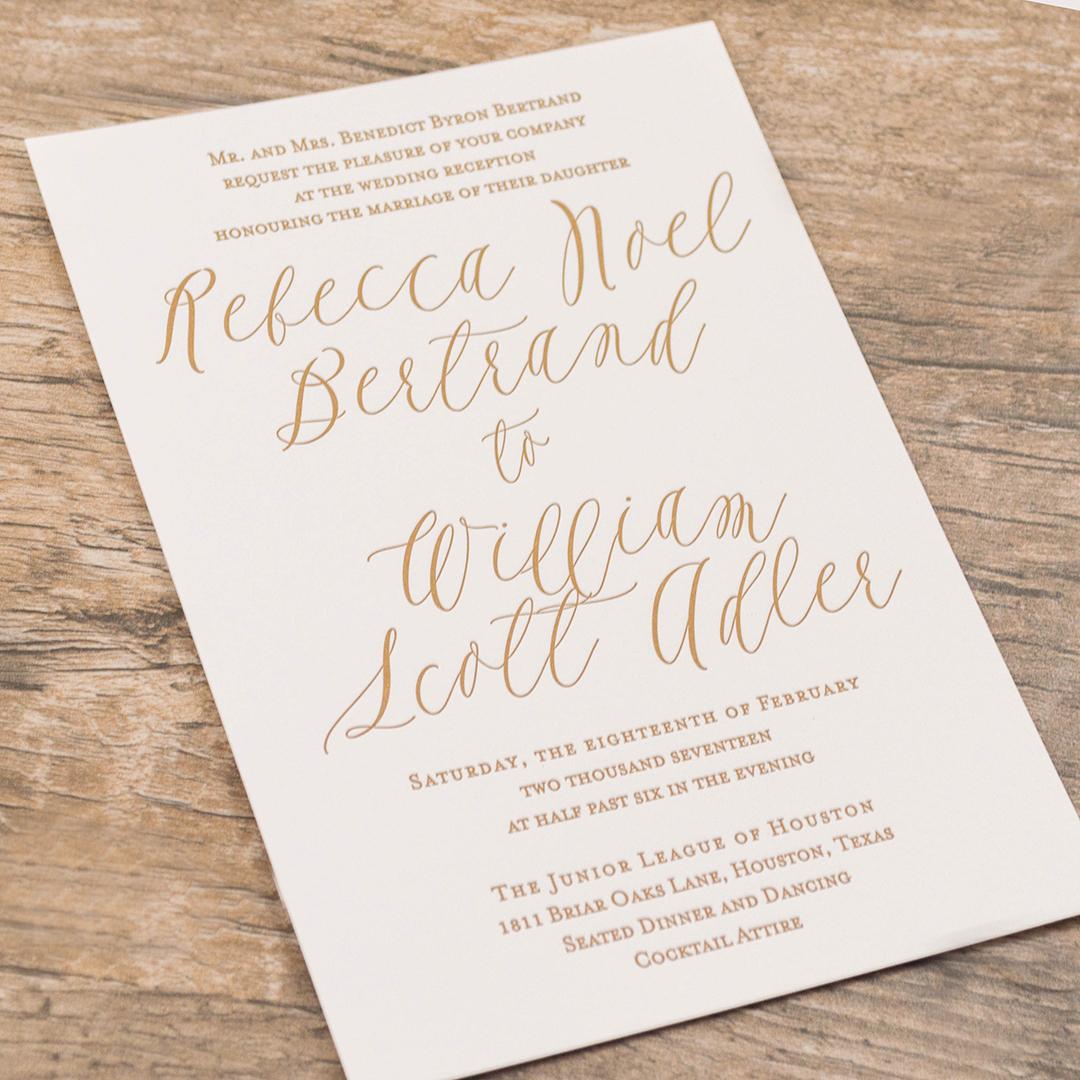 Modern Calligraphy Invitations