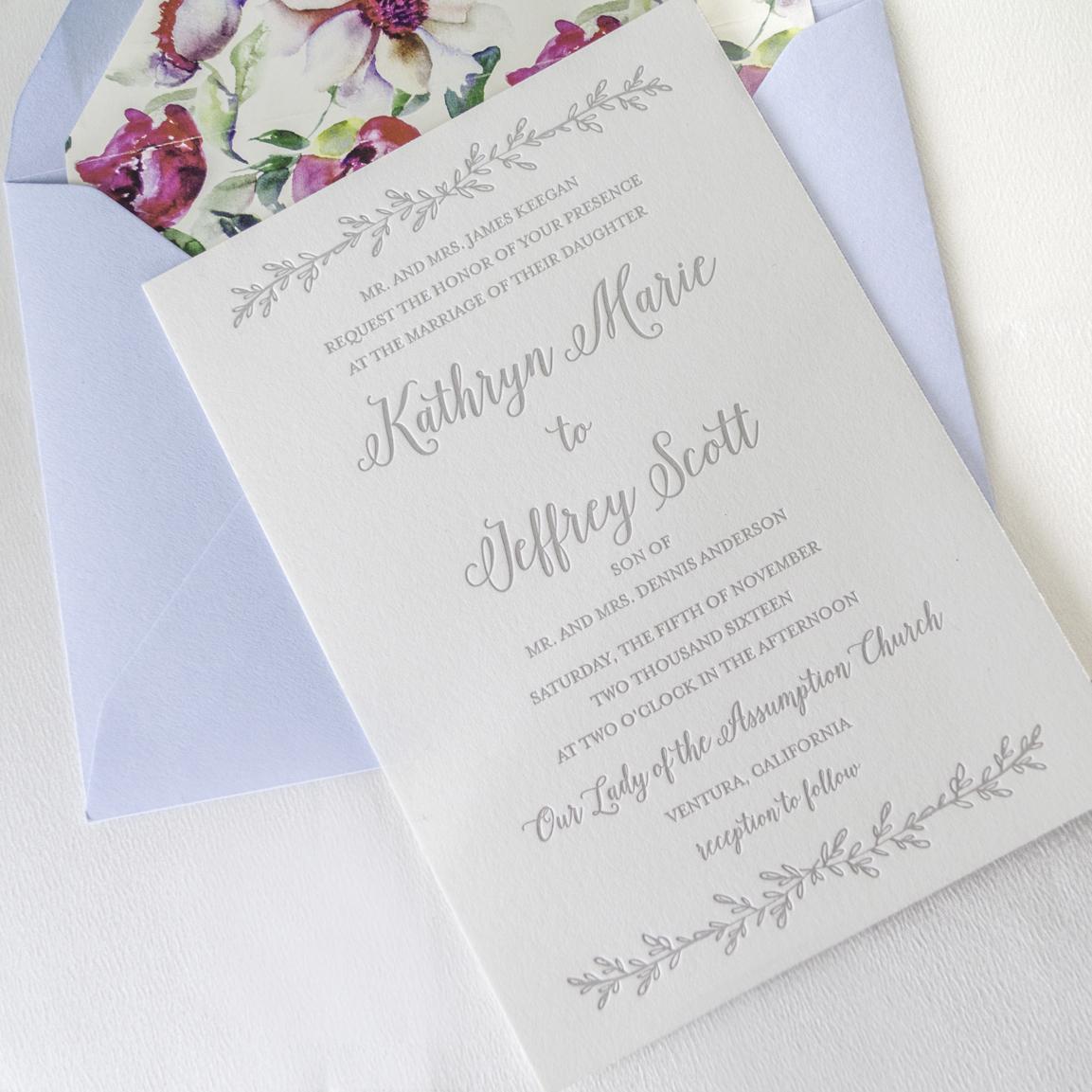 Botanical Wedding Invitations