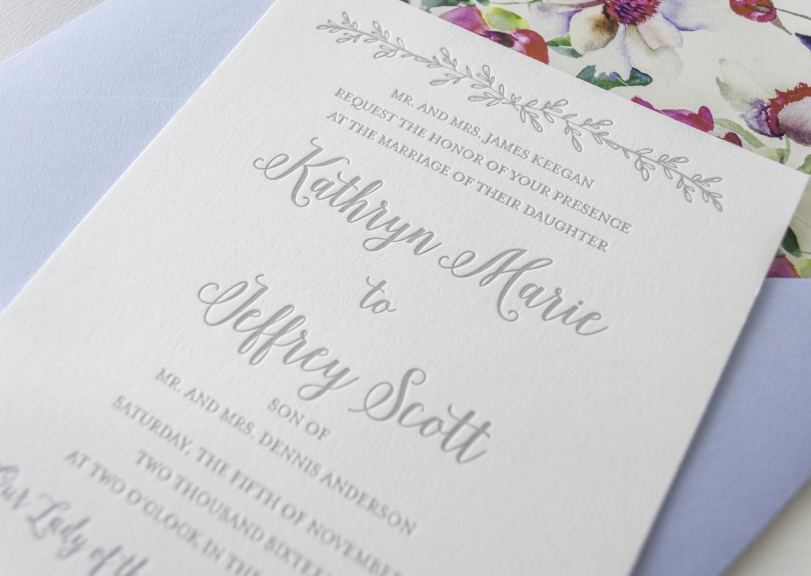 French Garden Inspired Wedding Invitations