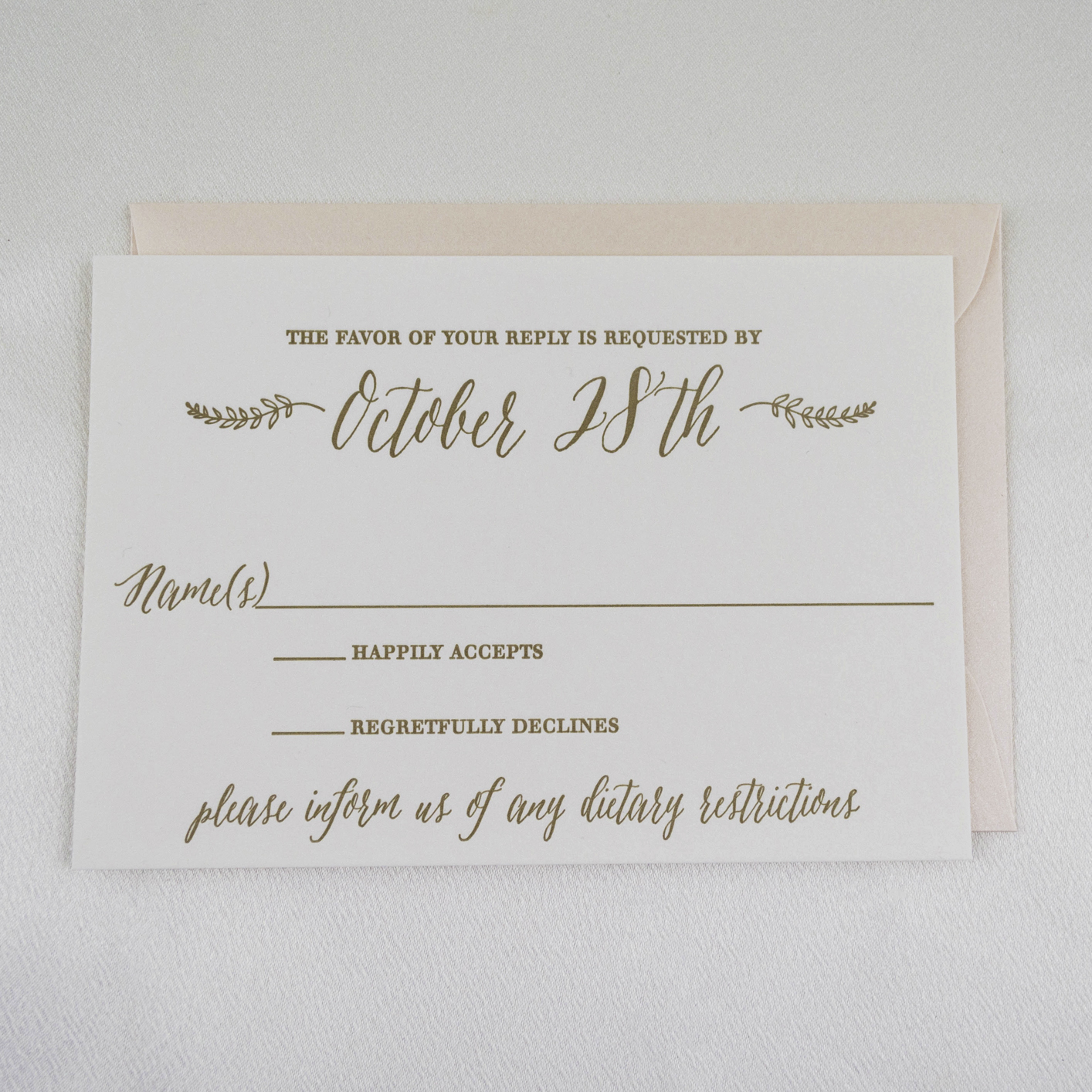 Modern calligraphy letterpress wedding invitations a p