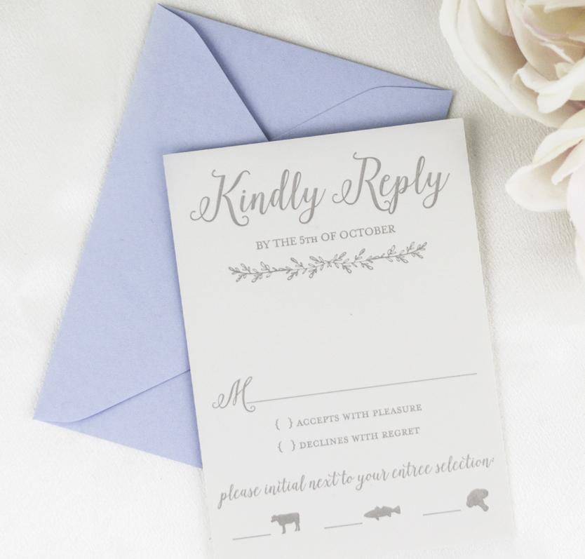Botanical Letterpress Invitations