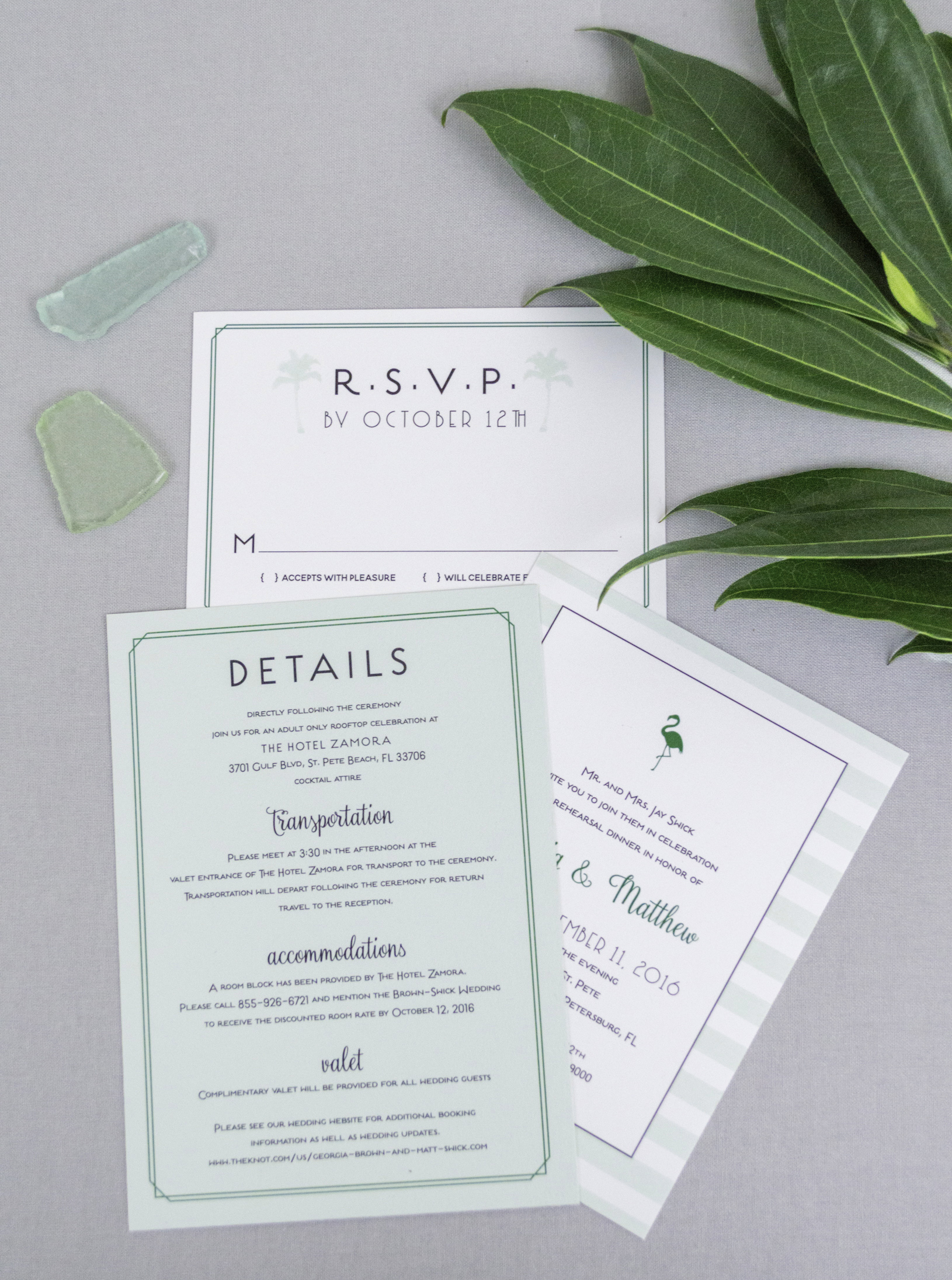 Mid-Century Modern Cali & Florida Inspired Wedding Invitations