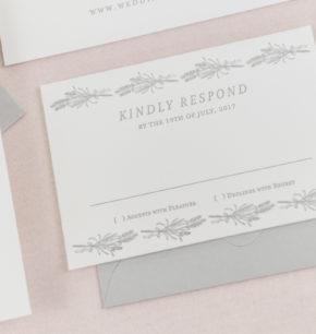 Greenery Monogram Wedding Invitations
