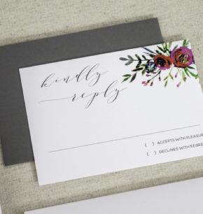 Fall & Winter Floral Watercolor Wedding Invitations