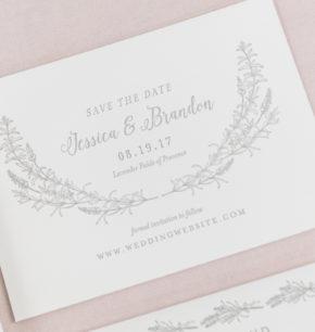 Lush Greenery Letterpress Wedding Stationery