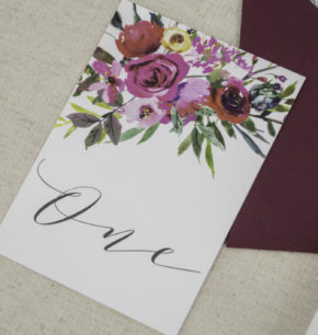 Personalized Floral Watercolor Wedding Invitations