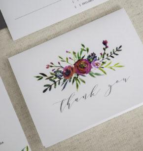 Watercolor Modern Wedding Invitations