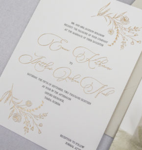 modern organic Tampa wedding invitation