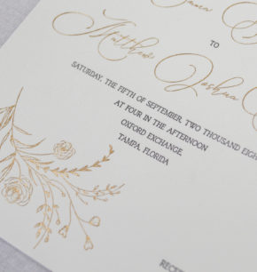 modern organic letterpress wedding stationery