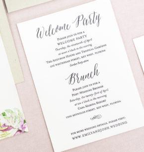Letterpress & Foil Tropical Wedding Invitations