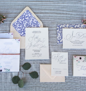 southern inspired letterpress wedding invitations